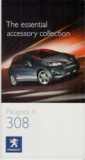 Peugeot 308 Hatchback Accessories 2008-09 UK Market Foldout Sales Brochure