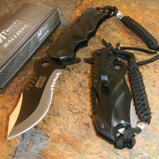 MTECH Ballistic BOWIE Black Spring Assisted Opening Serrated Pocket Knife NEW!!