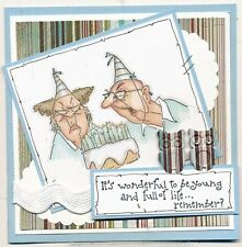 Old Birthday Couple (U get photo #2) L@@K@examples Art Impressions Rubber Stamps