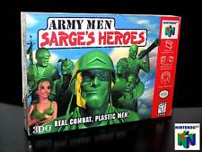 ARMY MEN SARGE'S HEROES GAMES AS NEW PER NINTENDO 64 N64 EDIZIONE AMERICANA D62