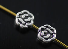 Wholesale Freeship 100pcs Tibet  Silver Style  Flower Charms Findings 5mm