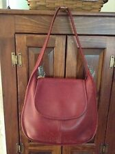 Pre-own Coach Red Leather Ergo Flap Hobo Shoulder Bag US Made #9029