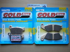 YAMAHA WR250 WR250F WR 250   FULL SET SINTERED FRONT & REAR BRAKE PADS *GOLDFREN