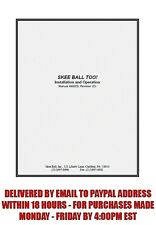 Skee Ball Too Installation and Operation Manual (54 pages) sent by email .pdf