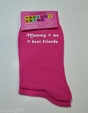 Mummy & Me = Best Friends Ladies Hot Pink Socks Birthday or Christmas Present