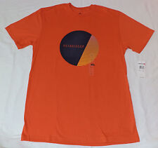 NWT Quiksilver S/S Orange Modern Fit Graphic T-Shirt     L     F#33