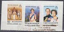 Bangladesh 1977 Θ Mi.86/88 Regentschaft Silver Jubilee Queen Elizabeth [sq7112]