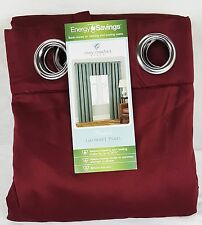 """Cindy Crawford Prelude Grommet Interlined Curtain Panel 50"""" x 63"""" - Cherry Red"""