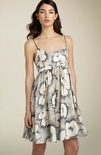 Plenty Frock! by Tracy Reese Olivia Black & White Floral Silk Dress Size 2/Small