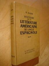 Bazin Histoire la littérature américaine de langue espagnole 1953 Olmedo Lugones