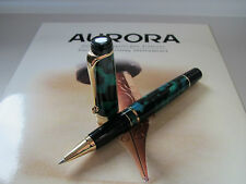 Aurora Optima Auroloide green with gold-pl trim rollerball pen MIB