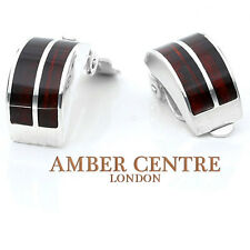 Baltic Amber Clip on Earrings 925 Silver Handmade - CL009   RRP £60