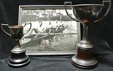 VINTAGE BARRIE REGATTA 1931 Photo OPEN FOUR TROPHY w/Picture of Olympic Medalist