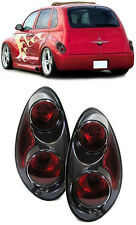 Black smoked clear finish tail rear lights for Chrysler PT Cruiser 00-10