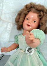 Shirley Temple Ideal VTG Composition 1930's Doll- a Stunner at 18""