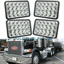4x LED Headlights For Peterbilt Rectangular Headlights (Pack of 4) 357 378 379