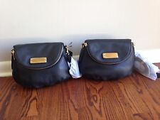 NWT MARC BY MARC JACOBS NATASHA CLASSIC Q MINI LEATHER CROSS BODY BAG BLACK