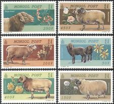 Mongolia 1999 SHEEP/Flowers/Animals/Nature/Farming/Plants 6v set (n17549)