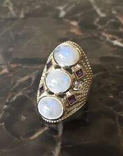 Himalayan Gems™ 3-Stone Center Multigemstone Sterling Silver Ring - 7
