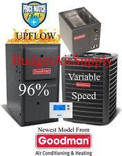 5 Ton Goodman 16 seer 95/96% 120 K Gas Furnace GSX16060+GMVC961205DN+CAPF4961D6