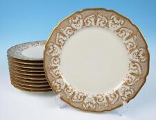 Set of 11 GOLD ENCRUSTED Guerin Limoges Service Plate Porcelain Dinner Antique