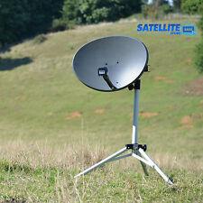 60cm Sky satellite dish quad LNB & tripod stand kit portable camping caravan