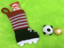 KNITTING PATTERN - Football chocolate cover and boot stocking / charity gift bag