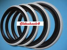 "4X 13"" BLACK WHITE WALL TYRE TRIMS WHITEWALL FORD VAUXHALL  FLAPS"