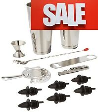 Bartender Professional 13 Set Tools Bar Drink Mixer Shaker Cocktail Mixing Kit