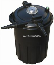 4000 Gallon Pressurized 24 Watts UV Bio Koi Fish Pond Filter w/ Easy Backwash