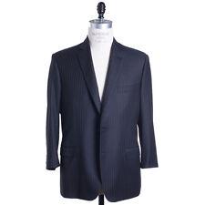 Brioni Suit Size 44 (54) Charcoal Stripe Super 170s