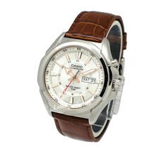 -Casio MTPE200L-7A Men's Leather Fashion Watch Brand New & 100% Authentic