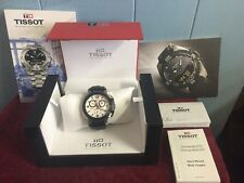 Tissot T-Race Automatic Chronograph G10 Rare White Face 1853 Rubber Band Watch