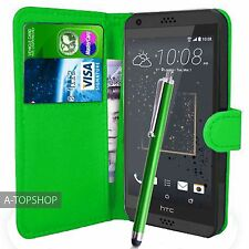 Green Wallet Case PU Leather Book Cover For HTC Desire 530 Mobile Phone
