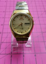 """ORIENT """"CRYSTAL"""" CALENDAR DAY & DATE 21 JEWELS STAINLESS STEEL JAPAN MOVT"""
