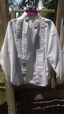 Ladies Women's white english horse show shirt, sleeveless size 10 Lady L & M