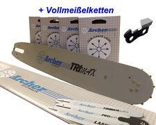 4x 38cm Vollmeißel Kette inkl. Schwert p.für Husqvarna 545 u. 545 trio brake