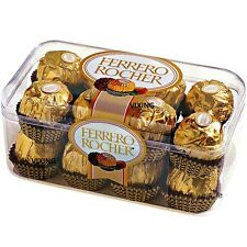 BOX OF 16 FERRERO ROCHER CHOCOLATES TRUFFLES–FERRERO ROCHER 16 PIECES BOXED 200G