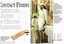 Publicité Advertising 1990 (2 pages) Cosmétique maquillage Helena Rubinstein