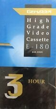 GENEXXA VHS VCR Video Tape Blank - E-180 by - 3hour High Performance New Sealed