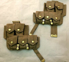 WWI BRITISH P08 WEB AMMO POUCH SET ( PAIR ) - REPRODUCTION