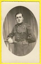cpa carte Photo Militaire SOLDAT Sergent du 67e Régiment Uniforme Fourragère