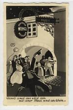 AK Wien XIX, Grinzing, Heuriger Karl Hengl 1937