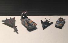 Military Micro Machines Lot of 4 Truck Tank Plane Red Skull Terror Troops Set A