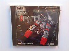 OVERRIDE NEC PC ENGINE hu-card  COREGRAFX TURBO DUO