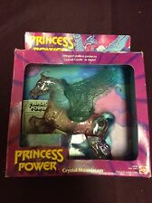 Vintage 1984 PRINCESS OF POWER SHE-RA CRYSTAL MOONBEAM HORSE & Saddle & Wings