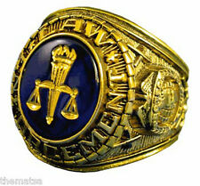 GOLD LAW ENFORCEMENT POLICE JUDGE SERVICE RING ALL SIZES 7 8 9 10 11 12 13 14 15