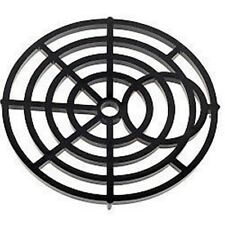 """One Round Gulley Grid Cover Tough Black Nylon Drain Cover 6"""" 150mm Standard Fit"""