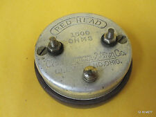 Red-Head Redhead 1500 OHMS Newman Stern Co. Headphone Vintage Antique Cleveland