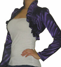 Ladies Bolero Shrug Top Womens Long Sleeve Evening Cardigan Size 10 12 14 16 18